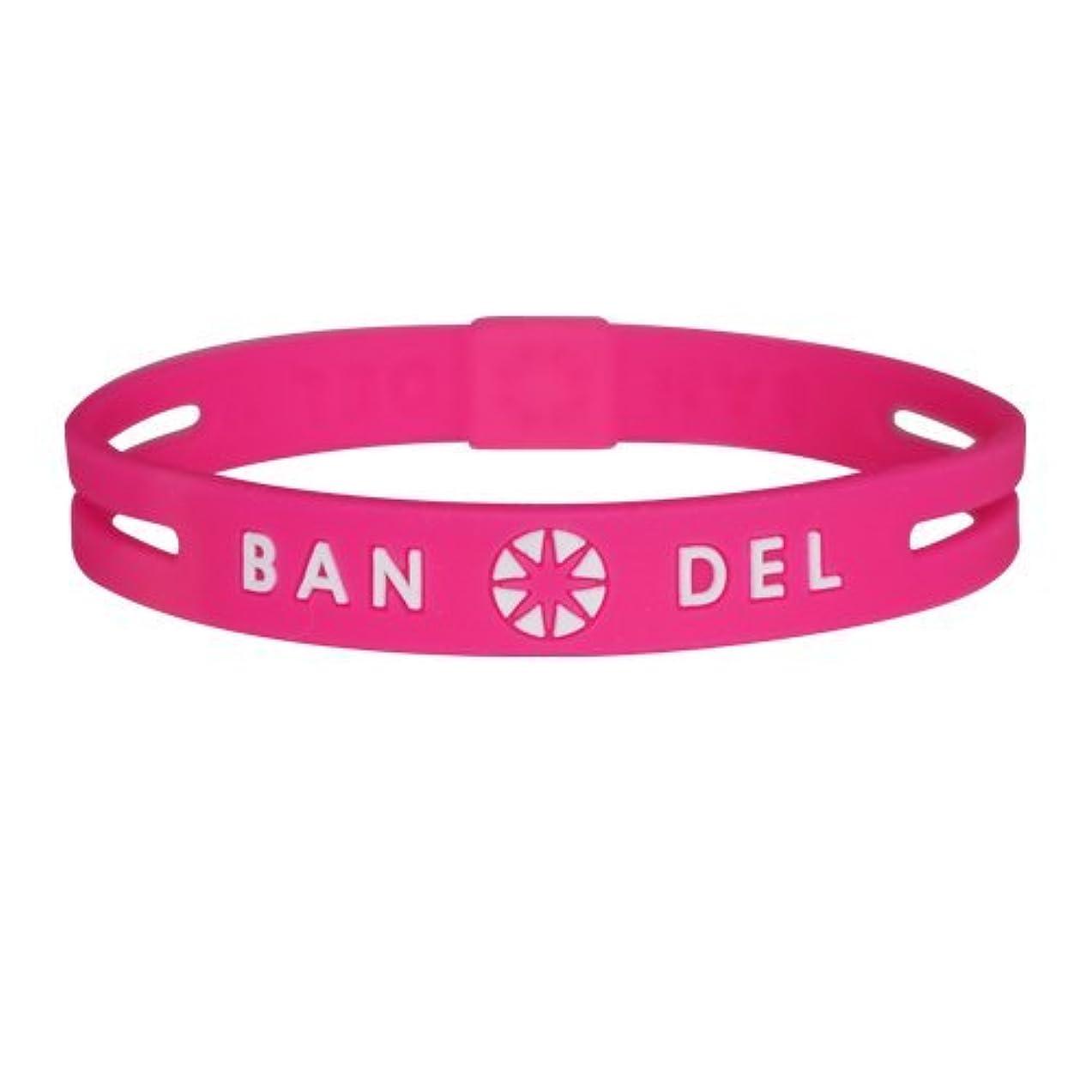 特殊面摘むバンデル(BANDEL)ストリング ブレスレット[ピンク×ホワイト]Mサイズ(17.5cm)/正規品 アクセサリー ブレス スリム