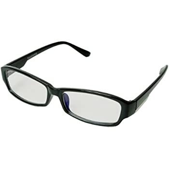 PC Glasses:Protect The Eyes - ブルーライト約54%カット 仕事場や自宅で使えるPCメガネ UV400 パソコンメガネ パソコン用メガネ (ブラック)