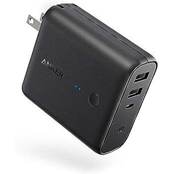 Anker PowerCore Fusion 5000 (モバイルバッテリー 搭載 USB充電器 5000mAh) 【PSE認証済 / コンセント 一体型 / PowerIQ搭載 / 折りたたみ式プラグ】 iPhone & Android各種対応 (ブラック)