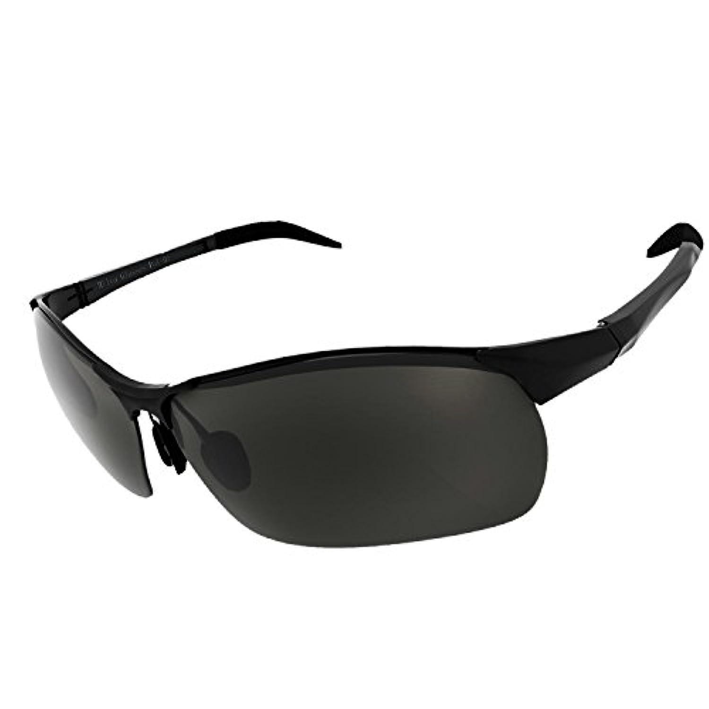 Milvaサングラス 偏光 スポーツサングラス 釣り ドライブ /レンズの色が変化する偏光サングラス
