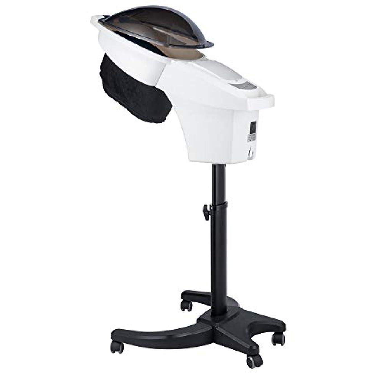 袋アプト気楽なHIZLJJ ヘアトリートメント理容室スパToolsのタイマー700W専門のサロンのヘアスチーマーインストールヘアカラープロセッサー調節可能なタイマ付きデラックスヘアースチーマー (Color : White)