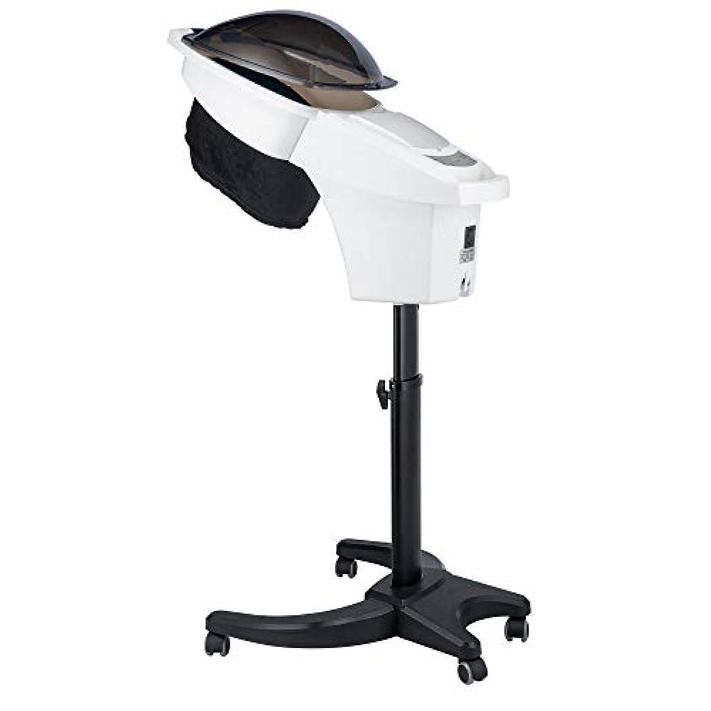やめる衛星気を散らすHIZLJJ ヘアトリートメント理容室スパToolsのタイマー700W専門のサロンのヘアスチーマーインストールヘアカラープロセッサー調節可能なタイマ付きデラックスヘアースチーマー (Color : White)