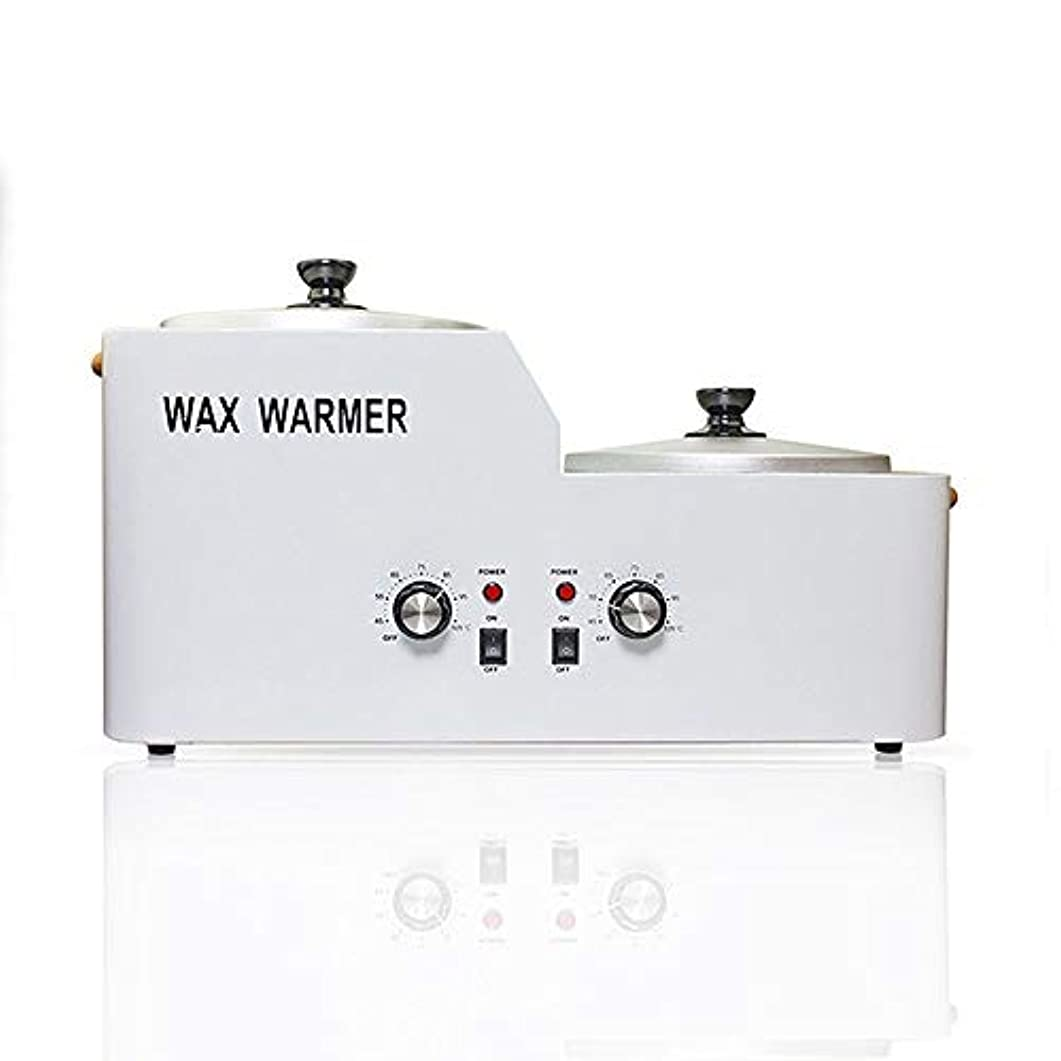 ピンポイント唯物論によってダブルワックスポット電気ワックスヒーター、脱毛ワックスツールセット、電気ワックスウォーマー溶融タンク