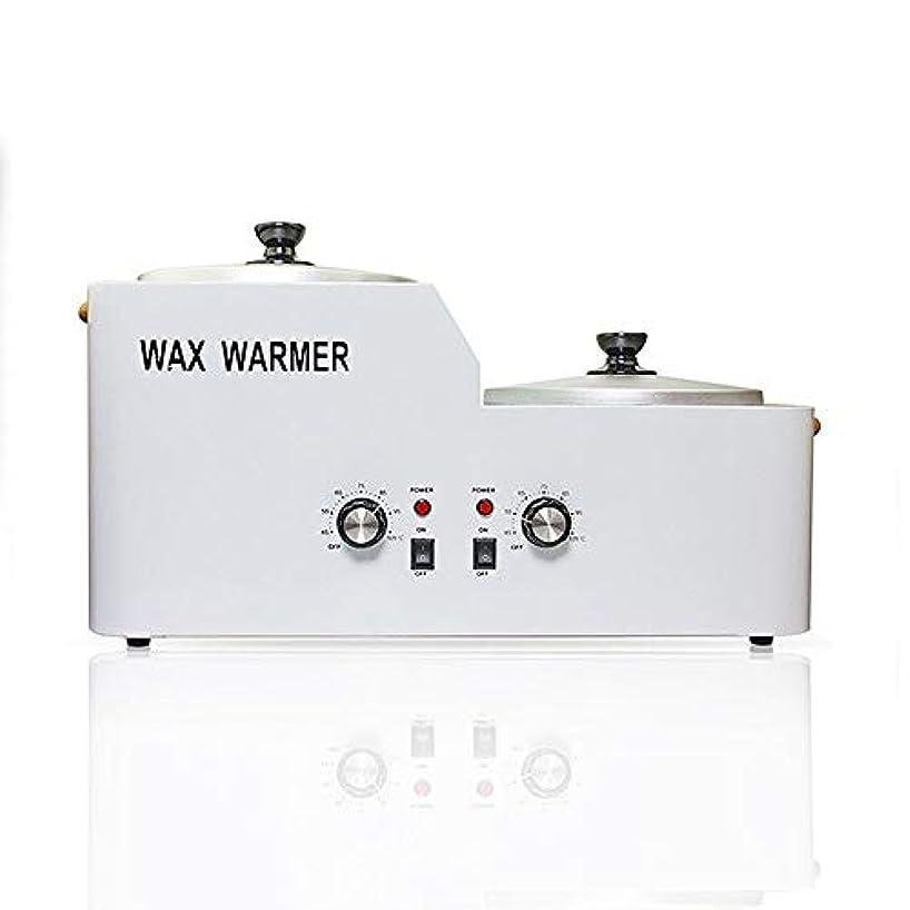 ダブルワックスポット電気ワックスヒーター、脱毛ワックスツールセット、電気ワックスウォーマー溶融タンク