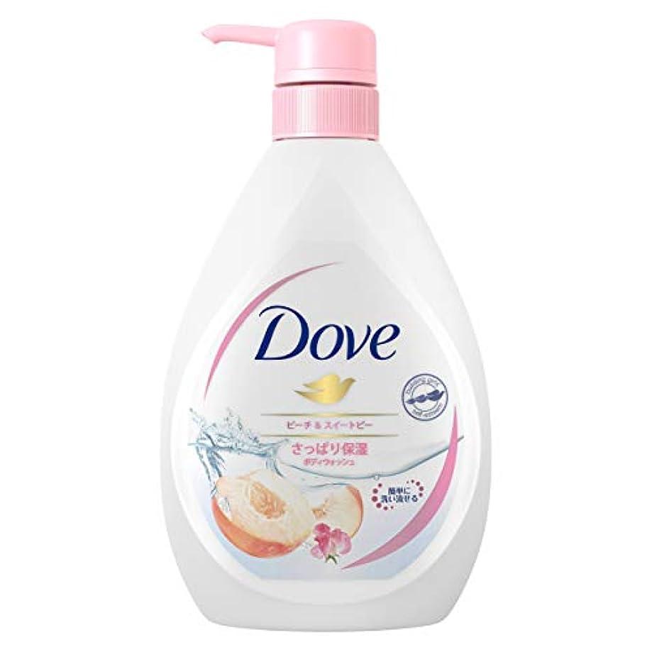 収縮確認写真Dove ダヴ ボディウォッシュ ピーチ & スイートピー ポンプ 500g