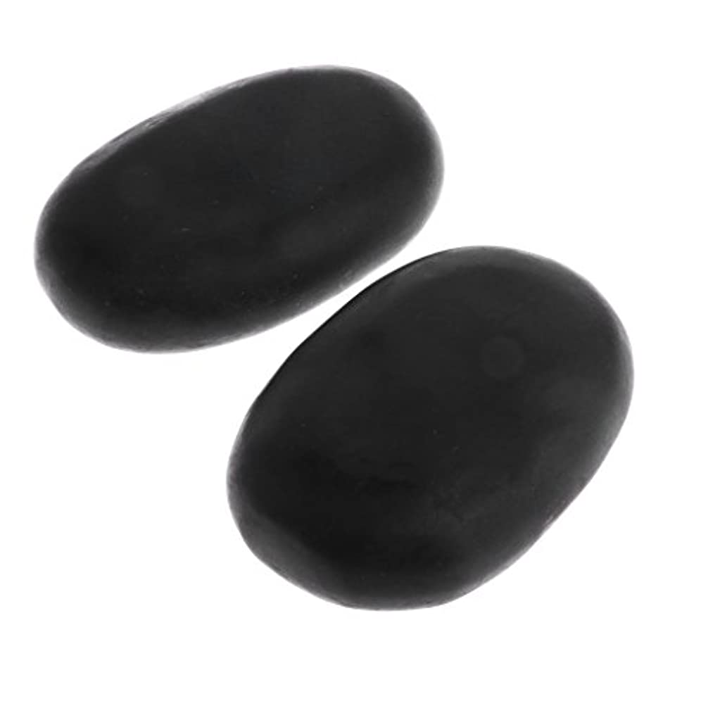 不満最悪行動Perfk マッサージ石 2個 温泉石 玄武岩 火山石 マッサージ 溶岩 自然石 美容 SPA
