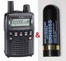 IC-R6(受信改造済み)&SRH805Sミニアンテナ SET