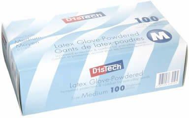メディコム ディステック ラテックスグローブ パウダーイン Mサイズ D-1125C(100枚入)