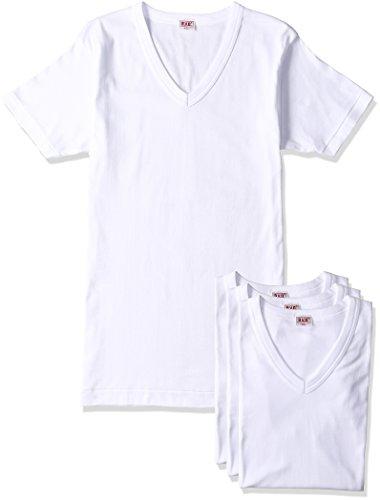 (ビー・ブイ・ディ)B.V.D. GOLD 綿100%  V首半袖Tシャツ 3枚組 G234TS3P WH ホワイト LL