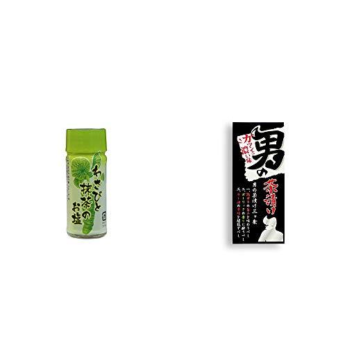 [2点セット] わさびと抹茶のお塩(30g)・男の茶漬け(4.8g×8袋)