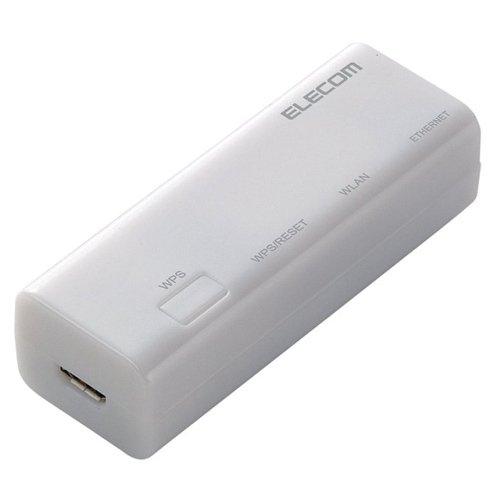 エレコム WiFiルーター 無線LAN ポータブル 300Mbps USBケーブル付属 WRH-300WH2-S
