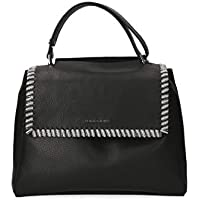 Orciani Women's B02006CHAINBLACK Black Leather Tote