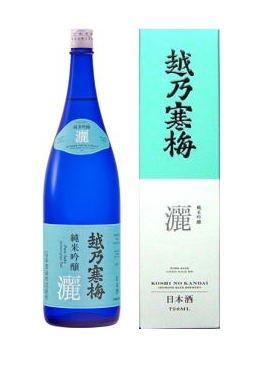 越乃寒梅 純米吟醸酒 灑(さい) 1.8l 1本化粧箱入り