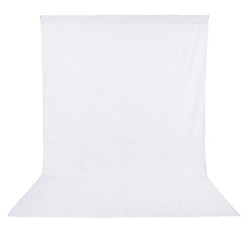 NEEWER 3 x 6M/ 9.8 x19.7ft 撮影スタジオモスリン折りたたみ写真、ビデオ、テレビ背景(白い) 【並行輸入品】