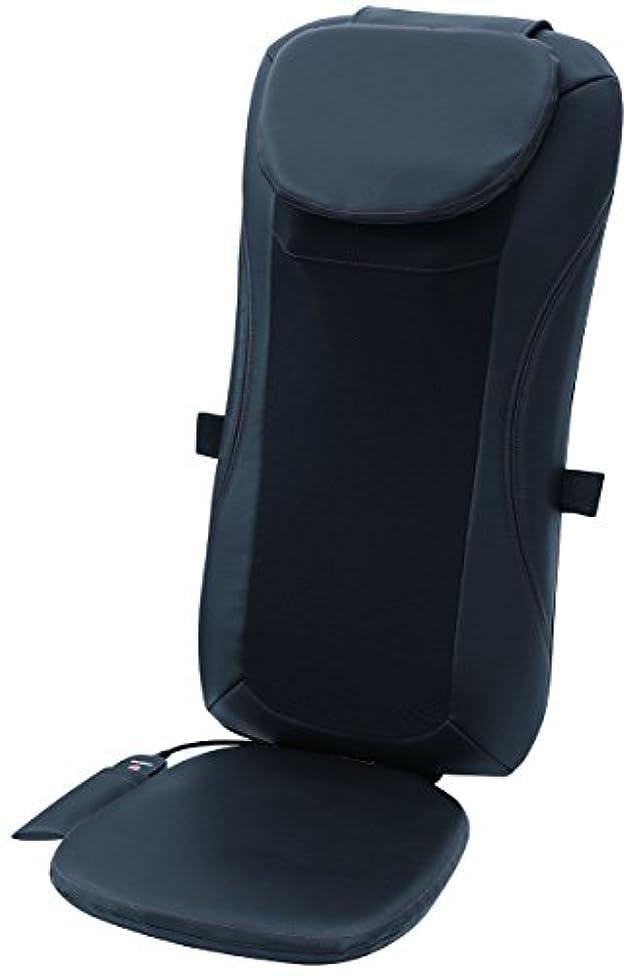 気味の悪いケニア人口スライヴ シートマッサージャー(温風式ヒーター搭載) ブラック 「通販限定モデル」 MD-8650