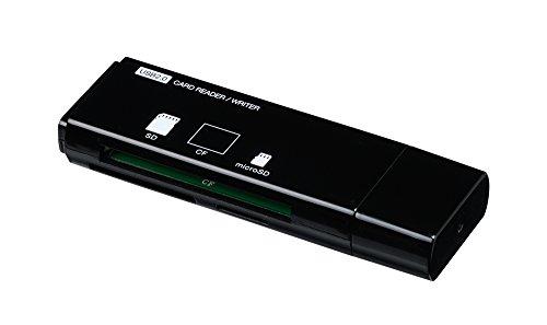 ナカバヤシ Digio2 USB 2.0 マルチリーダー/ライター ブラック CRW-3M59BK