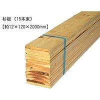 杉板 【約12×120×2000mm】(15枚入)〈O〉