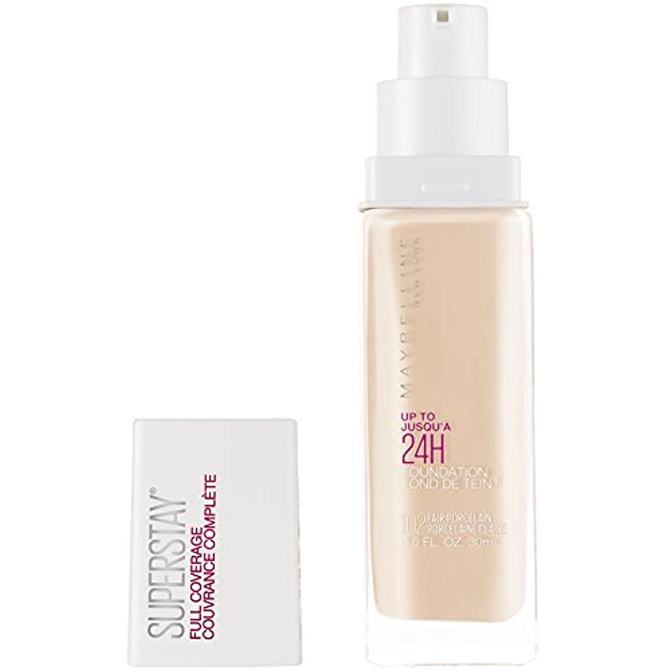 ヘッジ快いローブMAYBELLINE Superstay Full Coverage Foundation - Fair Porcelain 102 (並行輸入品)