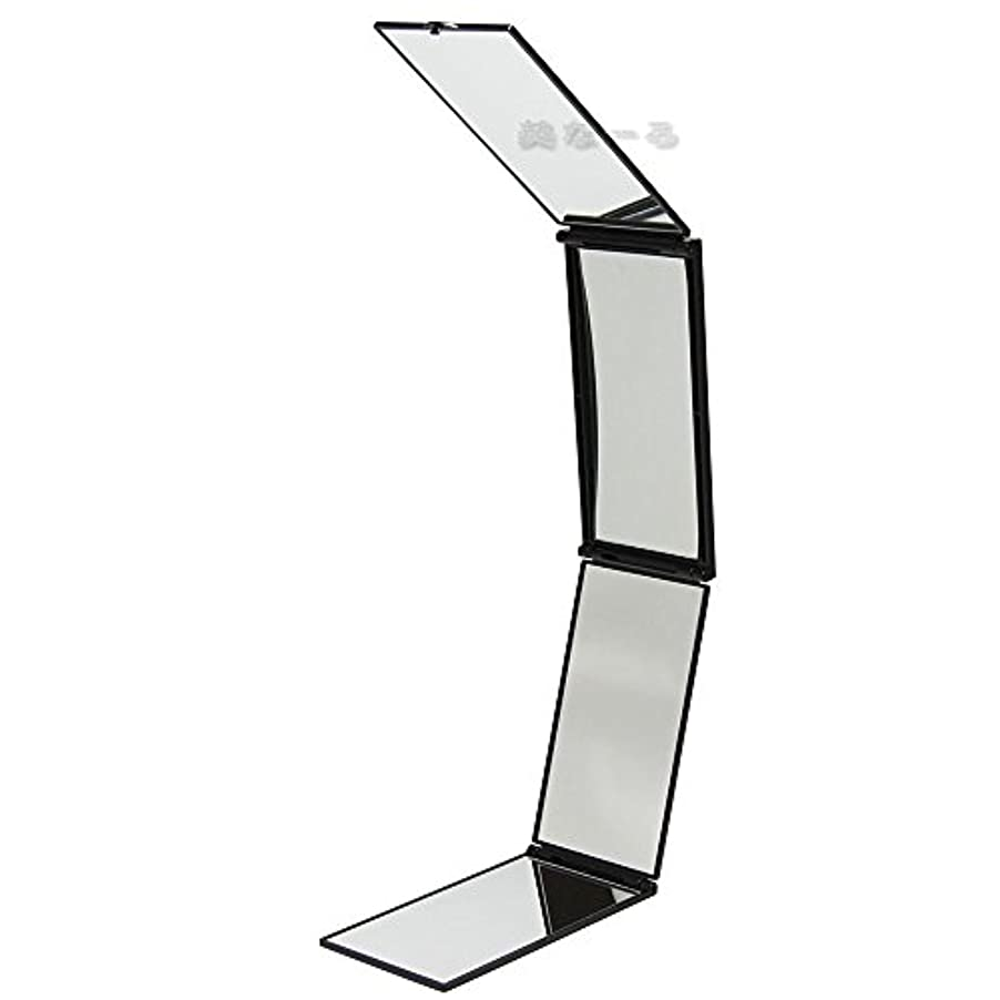 拍車ロゴ偏心ルアン ハンディミラー 携帯四面鏡