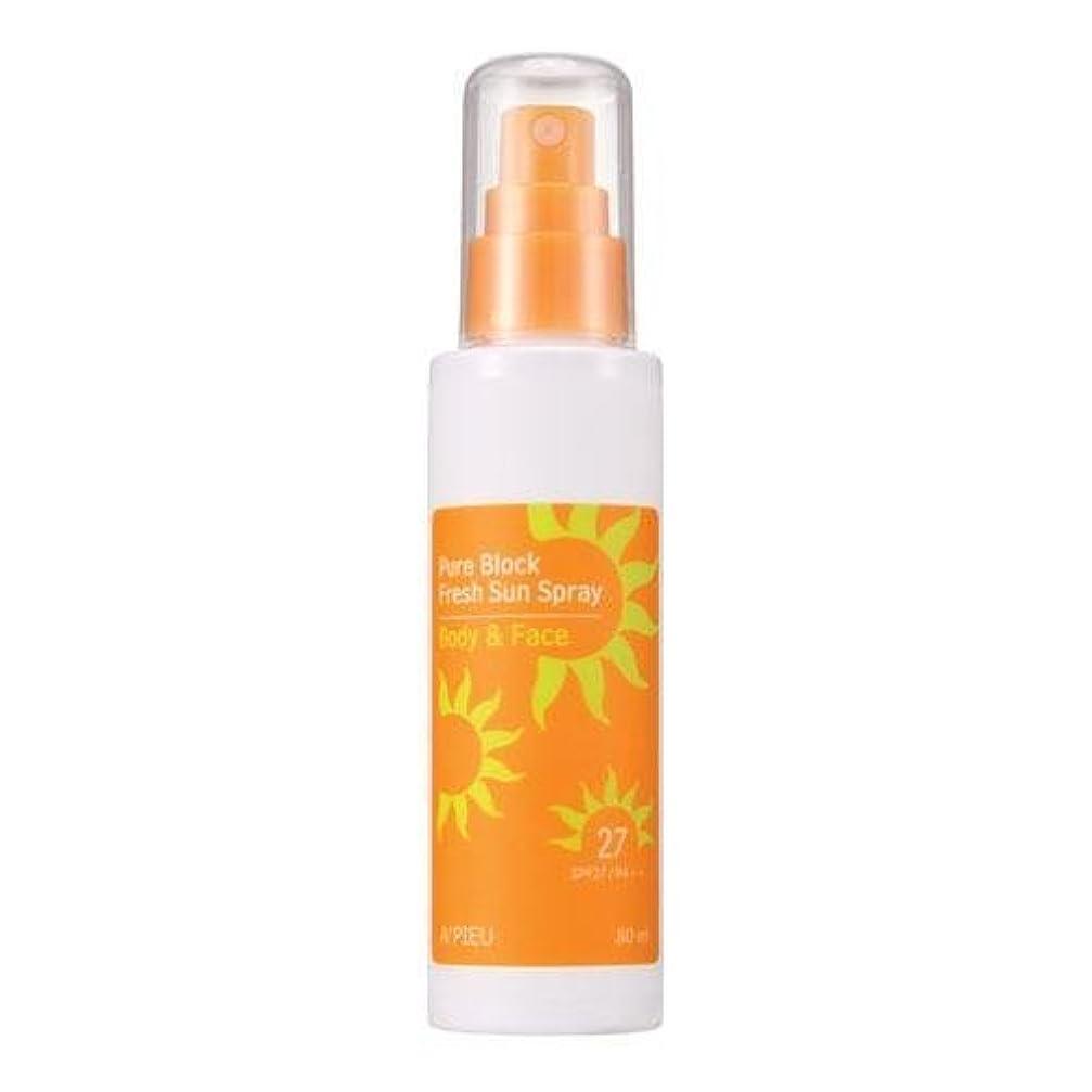 カップル中国歪めるAPIEU Pure Block Fresh Sun Spray (SPF27,PA++) [Korean Import]