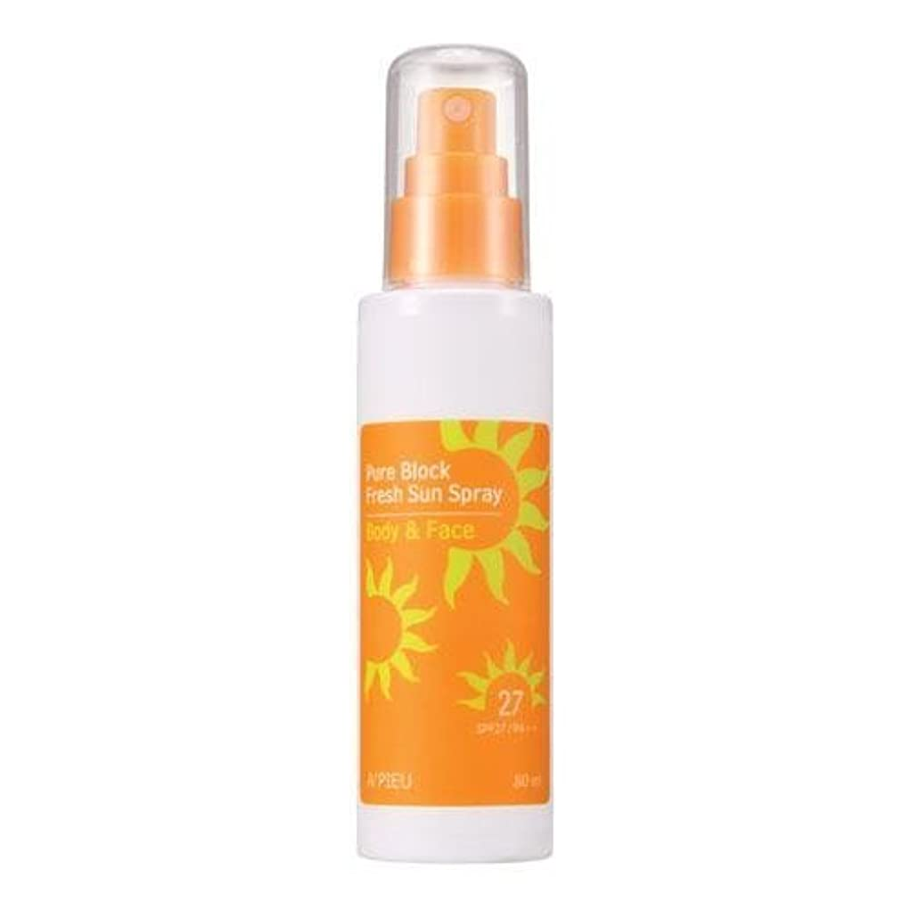 時間インチ抑制するAPIEU Pure Block Fresh Sun Spray (SPF27,PA++) [Korean Import]