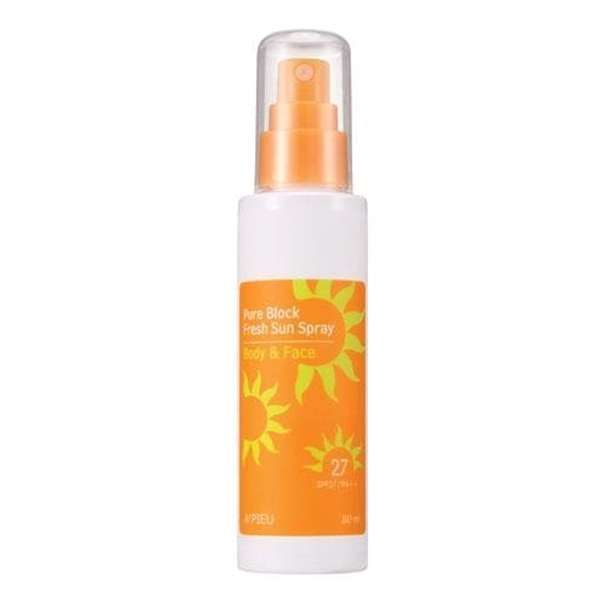 かご投獄フィードオンAPIEU Pure Block Fresh Sun Spray (SPF27,PA++) [Korean Import]
