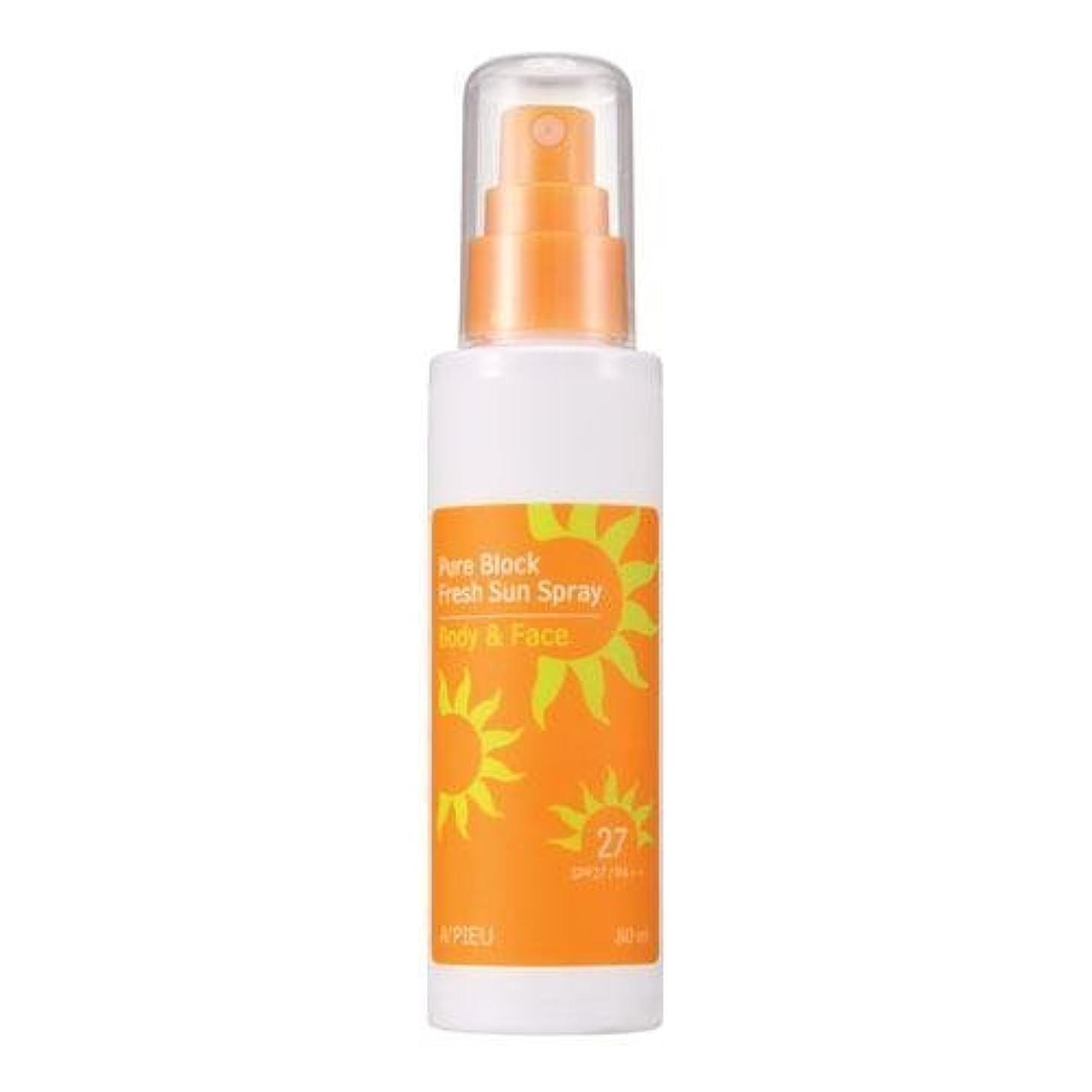 ちょうつがい感染する無実APIEU Pure Block Fresh Sun Spray (SPF27,PA++) [Korean Import]