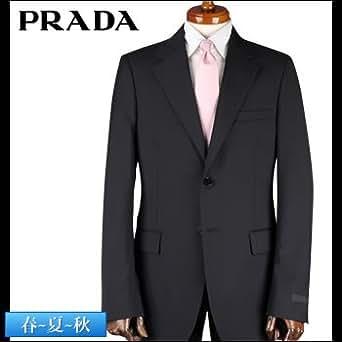 (プラダ) PRADA スーツ ブラック 織柄ピンストライプ(1159517027) 52 [並行輸入品]