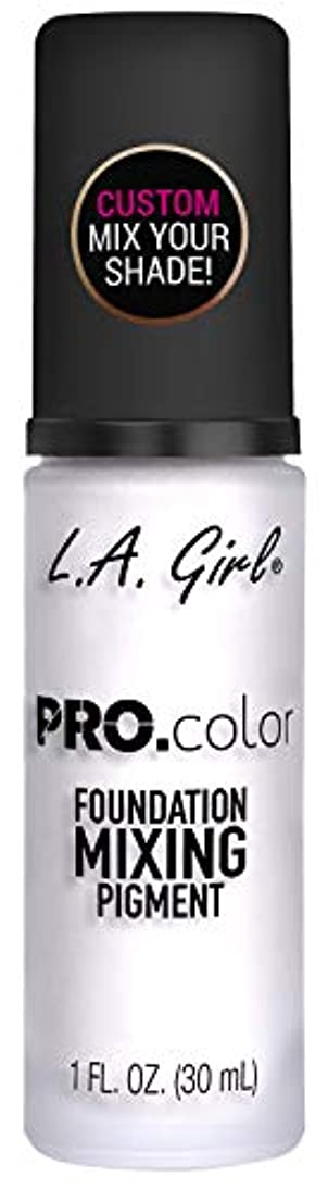 達成静けさ方程式L.A. GIRL Pro Color Foundation Mixing Pigment - White (並行輸入品)