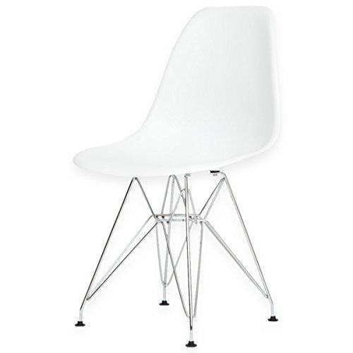 【世界で有名なデザイナーズチェアー】 イームズチェアー DSR ロッドワイヤーベース Eames ホワイト色