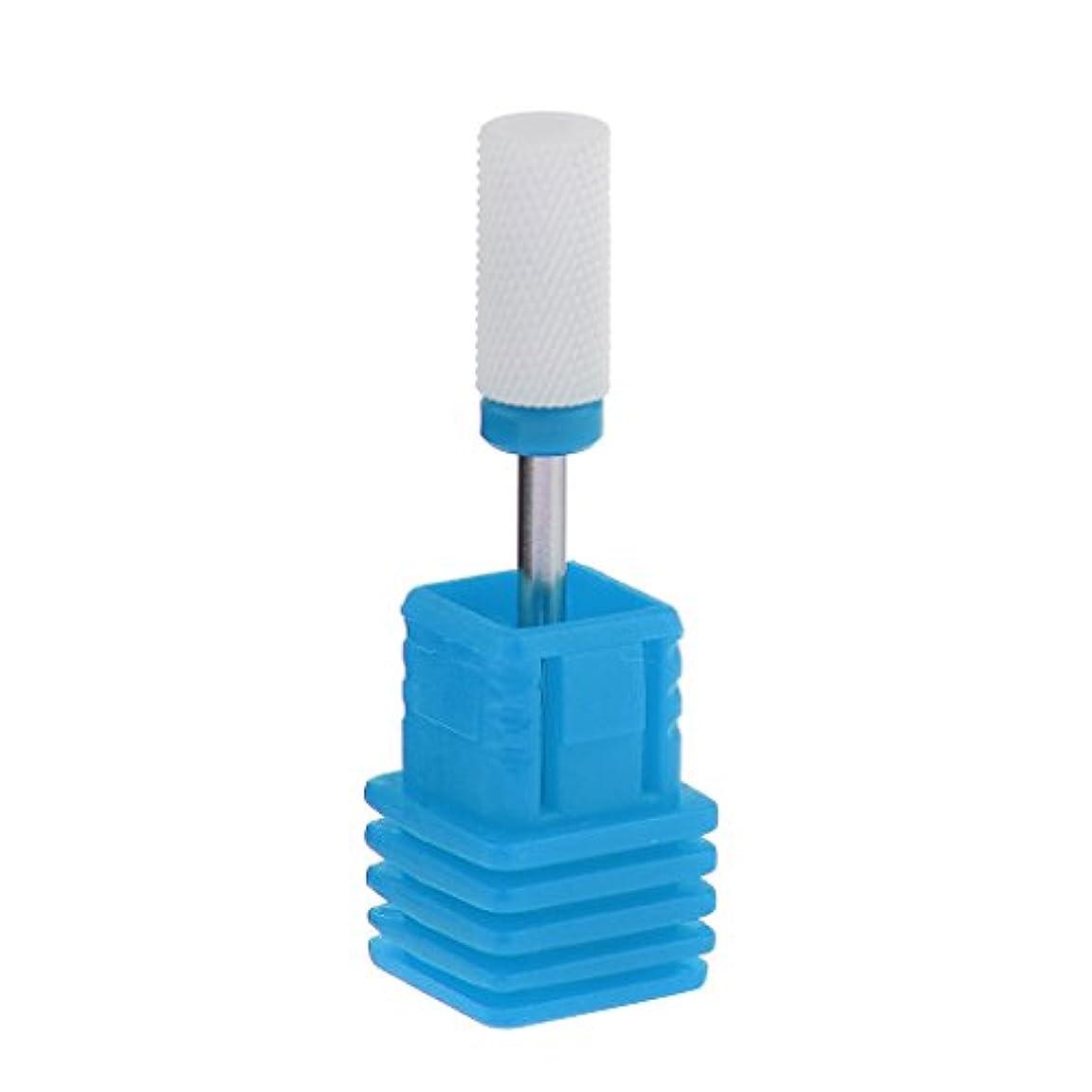 泥尊敬する止まるGRALARA ネイルアート ドリルビット セラミック 研磨ヘッド 電気 ドリル プロ ネイル 個人用 6色選べ - ブルー
