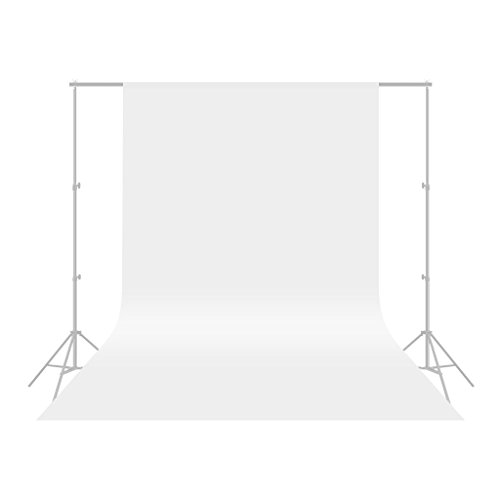 CRAPHYアップグレード高品質5.9 x 10FT / 1.8 x 3Mモスリンコットン背景布厚い不透明なスタジオ背景スクリーンシート 写真、ビデオ、テレビ用(背景布のみ) - 白