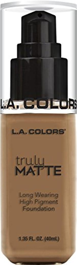 作り上げるモデレータ代名詞L.A. COLORS Truly Matte Foundation - Deep Tan (並行輸入品)