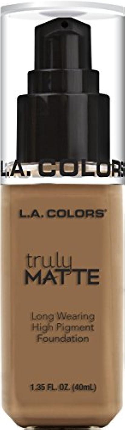 エンジニアリング高いだますL.A. COLORS Truly Matte Foundation - Deep Tan (並行輸入品)