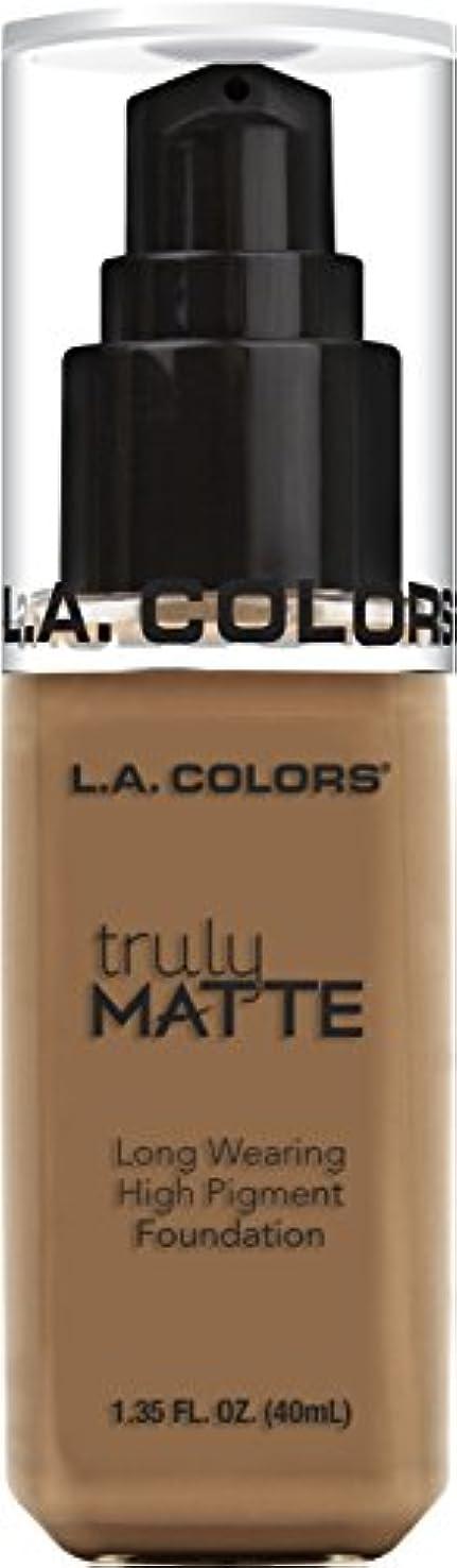 贅沢アパート不確実L.A. COLORS Truly Matte Foundation - Deep Tan (並行輸入品)