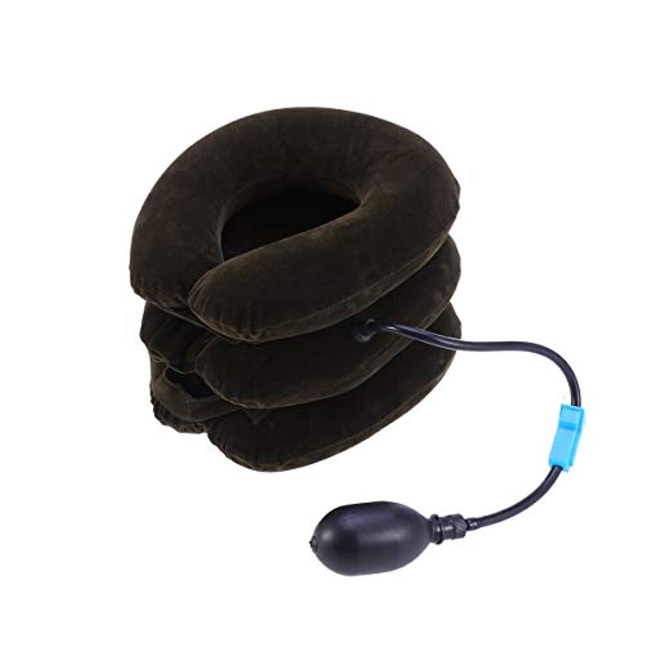 科学的解く細胞ポンプ首のマッサージャーが付いている膨脹可能な頚部首の牽引つばの三層の装具の椎骨サポートベルト