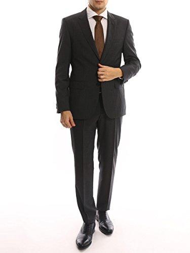 (ヒューゴ ボス) HUGO BOSS ウール100% ストライプ シングル 2ツ釦 レギュラーフィット スーツ [HBJS10140573]