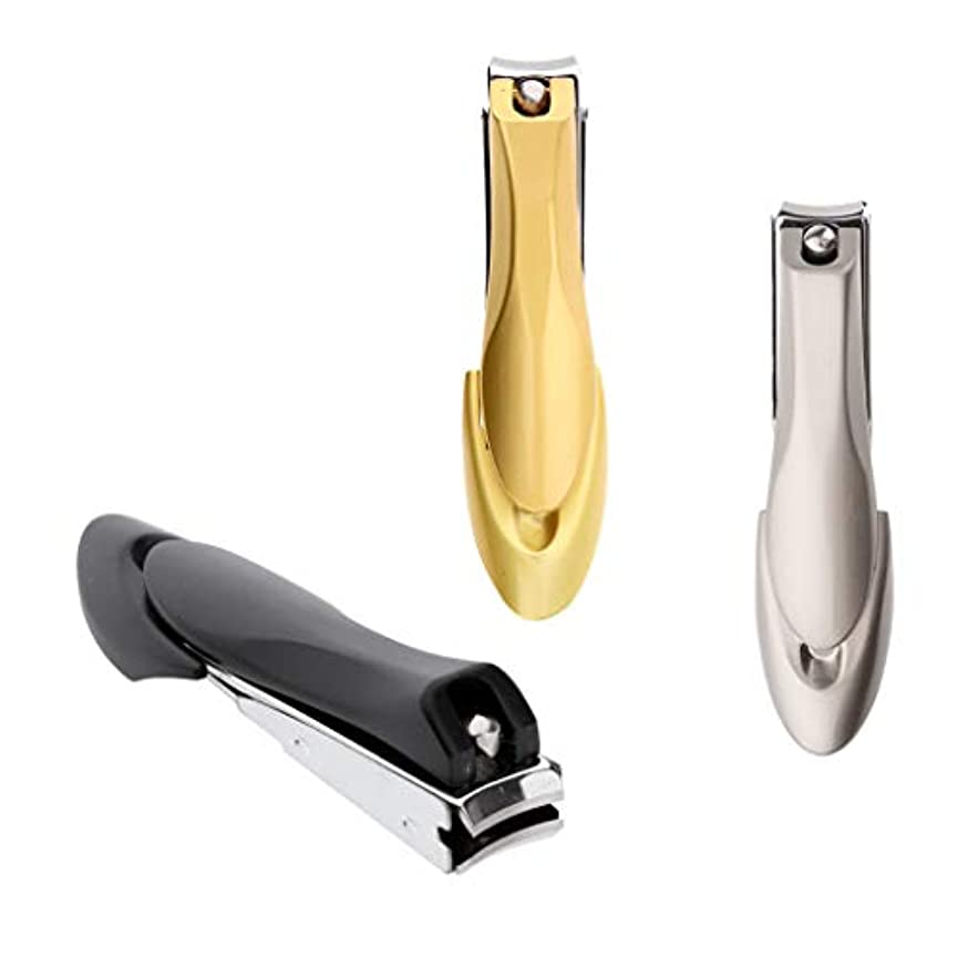 ライトニング非武装化想起CUTICATE ネイルクリッパー ステンレス 爪切り 爪カット 爪やすり 手足用 飛び散り防止 軽量 3個入り