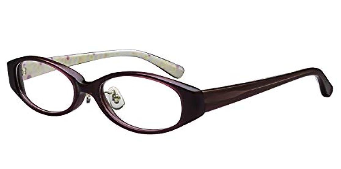 鯖江ワークス(SABAE WORKS) 老眼鏡 かわいい パープル ケース付き PG009C3 +1.00
