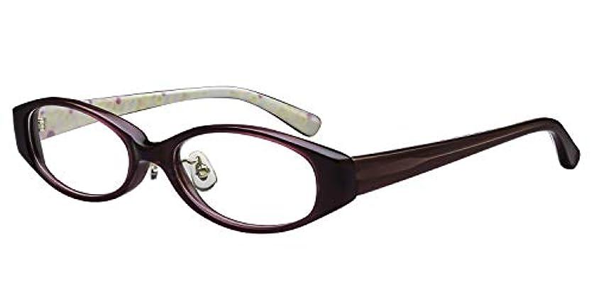 恐ろしい大学おもしろい鯖江ワークス(SABAE WORKS) 老眼鏡 かわいい パープル ケース付き PG009C3 +2.50