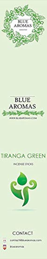 スペクトラム物思いにふけるミケランジェロBlue Aromas TIRANGA Green Incense Sticks Agarbatti  Pack of 8, 10 Sticks in Each Pack Incense   Export Quality