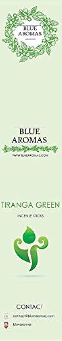 虚栄心ホイッスル電話するBlue Aromas TIRANGA Green Incense Sticks Agarbatti |Pack of 8, 10 Sticks in Each Pack Incense | Export Quality