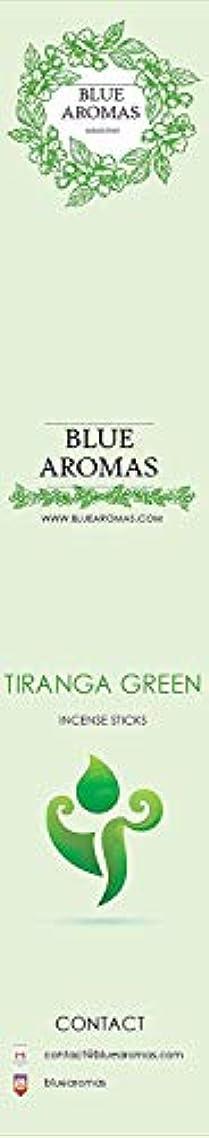 確立しますログお気に入りBlue Aromas TIRANGA Green Incense Sticks Agarbatti  Pack of 8, 10 Sticks in Each Pack Incense   Export Quality