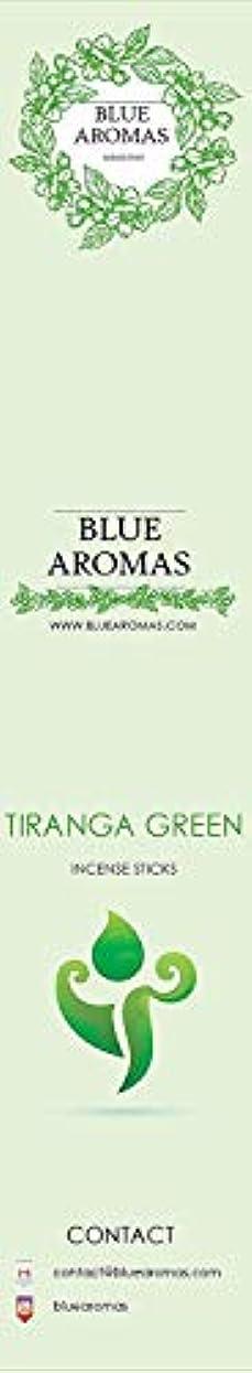 三ゴルフインフレーションBlue Aromas TIRANGA Green Incense Sticks Agarbatti  Pack of 8, 10 Sticks in Each Pack Incense   Export Quality