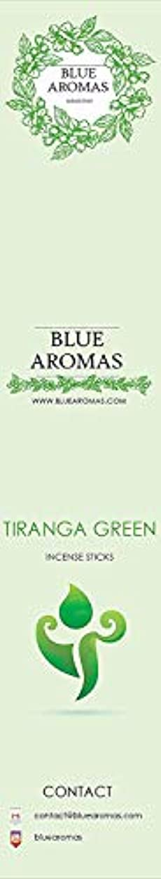 シュート一瞬リッチBlue Aromas TIRANGA Green Incense Sticks Agarbatti |Pack of 8, 10 Sticks in Each Pack Incense | Export Quality