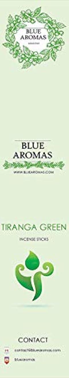 統合するストライプ共役Blue Aromas TIRANGA Green Incense Sticks Agarbatti |Pack of 8, 10 Sticks in Each Pack Incense | Export Quality