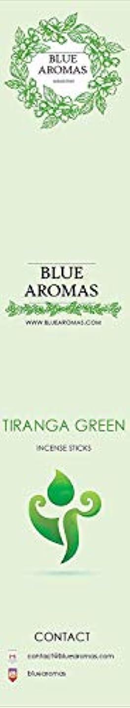 手のひら寛大さ銀河Blue Aromas TIRANGA Green Incense Sticks Agarbatti |Pack of 8, 10 Sticks in Each Pack Incense | Export Quality
