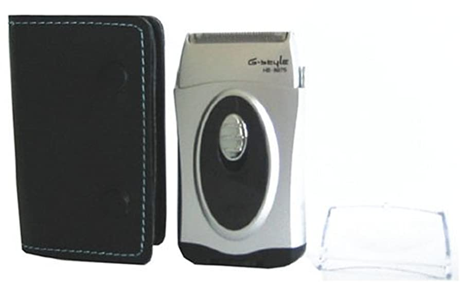 カウンターパートうがい薬争うオーム電機 ウォッシャブルポケットレザー シェーバー シルバー HB-8975