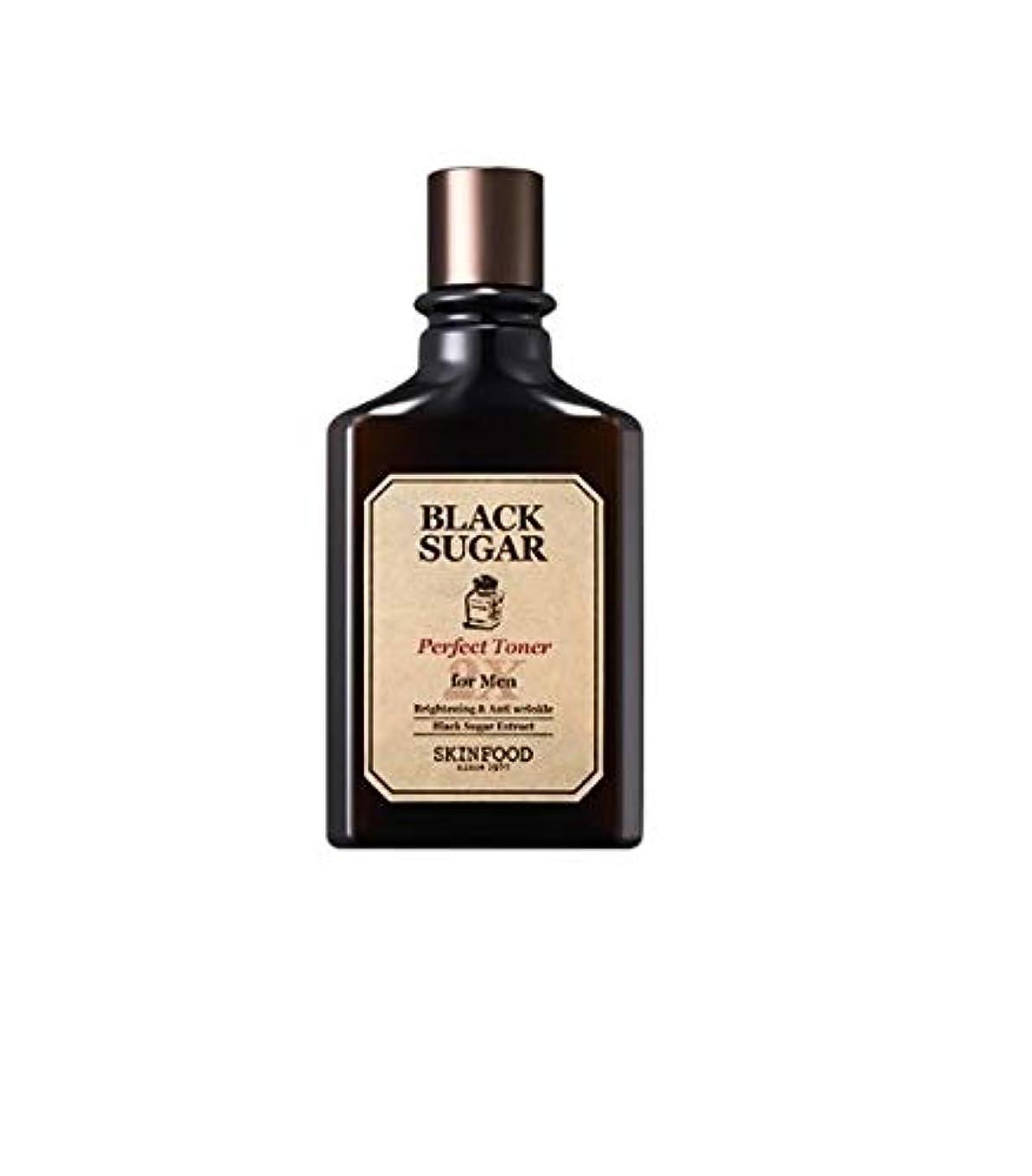 硫黄ジャベスウィルソンブロックするSkinfood 男性用ブラックシュガーパーフェクトトナー2X / Black Sugar Perfect Toner 2X for Men 180ml [並行輸入品]