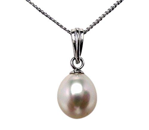 イソワパール 淡水真珠 ペンダントトップ 7.5-8mm ホワイトorホワイトピンクorホワイトブルー シルバー お試し pearl